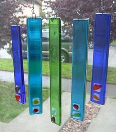 Fused Glass Wind Chimes - GLASS CRAFTS - DIY, tutorials, recipes, needlework, knitting, crochet, paper craft, jewelry making, swaps and so much more on Craftster.org