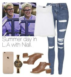 """""""Summer day in L.A with Niall."""" by welove1 ❤ liked on Polyvore featuring Topshop, FOSSIL, women's clothing, women, female, woman, misses and juniors"""