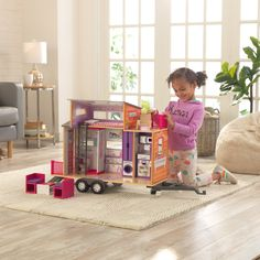 Kids will spend endless hours of imaginative play with our KidKraft Teeny House Dollhouse with pull-along hitch. Wooden Dollhouse, Dollhouse Furniture, Best Gifts For Tweens, Kids Doll House, Online Toy Stores, Tween Girl Gifts, Cool Toys For Girls, Home Trends, Inspiration For Kids