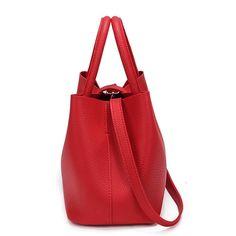 b59bccb1f4 2016 New Bags Handbag Women Fashion Autumn Shoulder Bag Designer Handbags  High Quality PU Leather Ladies Bucket Casual Tote Bag