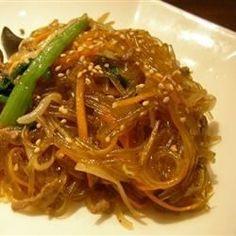 Yummy Korean Glass Noodles (Jap Chae) Recipe on Yummly. Vermicelli Recipes, Vermicelli Noodles, Rice Noodles, Garlic Noodles, Cold Pasta Recipes, Noodle Recipes, Cooking Recipes, Korean Glass Noodles, Korean Cuisine