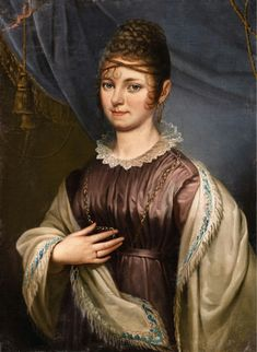 Unknown Master of the early 19th century circa 1800 PORTRAIT OF A LADY