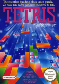 Tetris (NES) - I shall use these blocks to make something christmasy :) Retro Video, Video Vintage, Games Box, Card Games, Arcade, Playstation, Nintendo Sega, Nintendo Games, Pc Engine