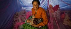 Sarnila and her one-month-old baby ran away to a shelter for survivors of domestic violence run with help from Global Fund for Women grantee partner Loom. When the earthquake hit just weeks later, they moved into a tent and received health and hygiene necessities from Loom.