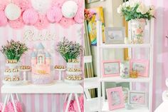Pink-Princess-Baptism-Party-via-Karas-Party-Ideas-KarasPartyIdeas.com15.jpg (700×466)