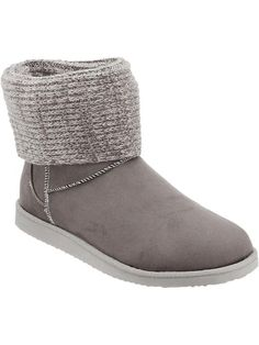 Women's Sweater-Cuff Boots Product Image SIZE 9