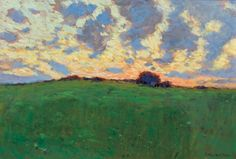 Arthur Wesley Dow (American, 1857-1922) | Landscape at Sunset, s.d.