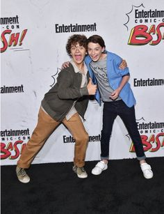 Gaten Matarazzo and Finn Wolfhard at Entertainment Weekly's annual Comic-Con party in celebration of Comic-Con 2017  at Float at Hard Rock Hotel San Diego on July 22, 2017 in San Diego, California.