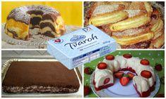 Tvarohové dezerty ako z cukrárne si teraz pripravíte aj sami doma. Chutia fantasticky a už len pri pohľade na ne sa vám zbiehajú slinky. Vybrali sme pre vás tie najlepšie, tak určite ochutnajte! :) French Toast, Cookies, Breakfast, Desserts, Food, Hampers, Biscuits, Morning Coffee, Meal