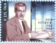 Francobollo commemorativo di Elio Vittorini, nel cinquantesimo anniversario della scomparsa