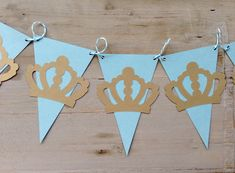 Little Prince blue and shimmery gold Baby Shower / Little Prince birthday banner / Garland