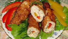 Рулет из курицы и сыра