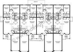 8 unit plan based on one of our most popular layouts for for 8 plex floor plans
