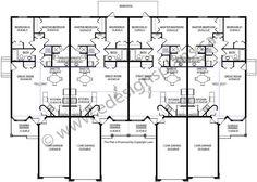 4 plex skinny units apartment house plan ideas for 4 unit apartment plans