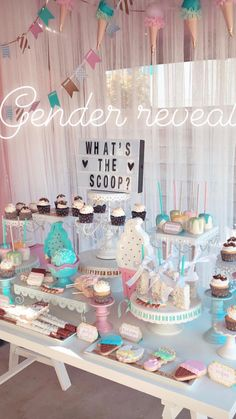 Gender Reveal Tea Party Gender Reveal Party Ideas Pinterest