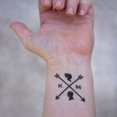 Pics For > Ampersand Arrow Tattoo