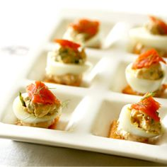 Deviled #Eggs with Smoked #Salmon