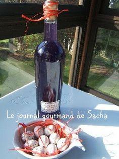 Liqueur de violettes fraîches