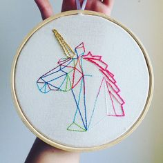 "250 Me gusta, 29 comentarios - Vívian Freitas (@vihfreitas) en Instagram: ""I want to believe #unicorn #embroidery #bordado"""