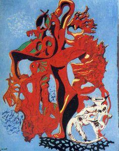 Max Ernst (German, 1891-1976), Pomegranate Flower, 1926, oil on canvas.