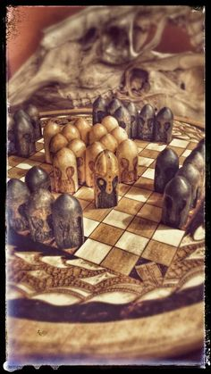 Hnefatafl Board Game The Kings Table Viking Tafl by PrimalForged