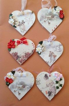 GetWell Flowers For My Lovely Friend ( 3 Photos ) Mdf Christmas Decorations, Valentines Day Decorations, Valentine Day Crafts, Handmade Decorations, Wooden Hearts Crafts, Heart Crafts, Christmas Hearts, Christmas Gift Tags, Xmas