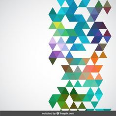 Geometrical colorful background