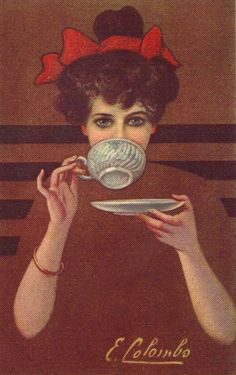Please do not refer to your afternoon tea as a high tea. Remember, a high tea is… Tee Kunst, My Cup Of Tea, Coffee Art, Vintage Tea, Vintage Italian, Drinking Tea, Sipping Tea, High Tea, Vintage Images