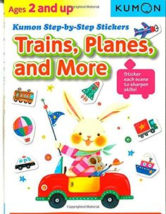 Kumon Step-by-Step Stickers: Trains, Planes, and More: Kumon Publishing: 9781935800880: Amazon.com: Books
