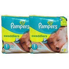 Pampers Swaddlers Diapers, Size 1, 20 Count Pack of 2 (Total of 40 Pampers)         * Learn more by visiting the image link. (This is an affiliate link) #HealthHousehold