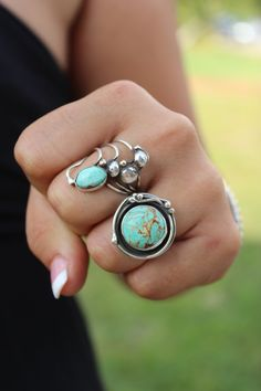 Hey, I found this really awesome Etsy listing at https://www.etsy.com/listing/183425465/round-turquoise-statement-ring-boho-chic