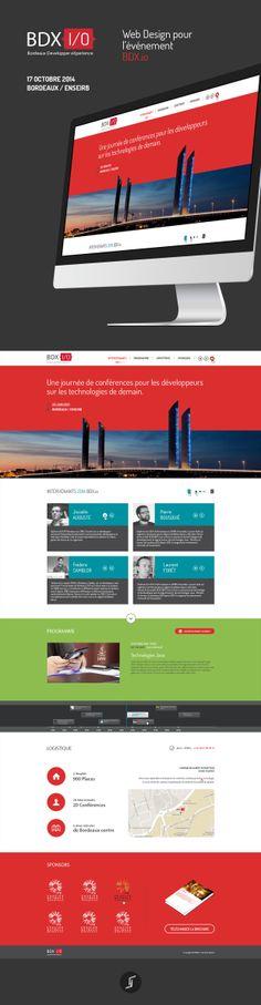 Réalisation du #Web #Design pour l'événement BDX.io qui ce déroulera le 17 octobre 2014 à #Bordeaux au sein de l'université ENSEIRB.