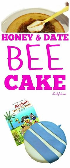 I was sent the book Aishah Learns to Bake by author Latifah Peerbux from Almaurid Books about a little girl who helps her mum make a cake. We gathered the ingredients and tried our hand at the recipe, turning it into a stinging bee cake. Black Fondant, Date Cake, Bee Cakes, Yellow Foods, Ramadan Crafts, Little Girl Names, Buttercream Icing, Tasty Bites, Food Themes