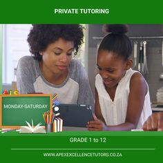 Is your child struggling in their Education? Need help? We have qualified and professional Tutors to suit your child's needs. Give your child the help they need in their education. One on One personalised interactive lessons: -Home Tutoring -Online classes -Group lessons (online and in person) -Free Monthly assessments Grade 1 to 12 All subjects! Contact us Today 068 035 1845/ 067 015 9855 Online Lessons, Grade 1, Assessment, The Help, Suit, Child, Group, Education, Free