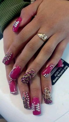 Pink and leopard and bling