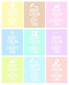 KdBuggie Boutique: Craft Room Decor - Keep Calm Printable Signs