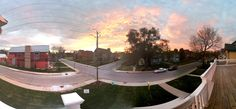 Panoramic view from balcony includes downtown Indianapolis and the beautiful Herron Morton Neighborhood.