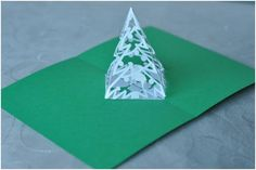 Complex Pyramid Christmas Tree Pop Up Card