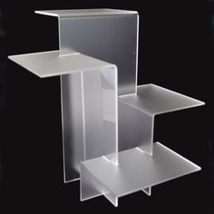 4-Tier-Acrylic-Riser-Display-Stand-White-Frosted-11-x-11-1-2-x-11-1-2-H