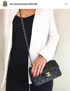 Chanel mini rectangle black caviar gold hardware