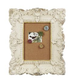 x Magnesia Framed Cork Board w/ 4 Tin Flower Push Pins Diy Crafts To Do, Cork Crafts, Tin Flowers, Shabby Chic Frames, Creative Co Op, Joss And Main, Home Furnishings, Floral Design, Crafty