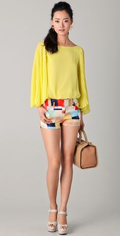 Alice + Olivia Top and Shorts
