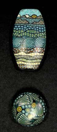 shoreline-series. Polymer clay by Carol Simmons.