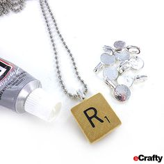 Voila! A finished scrabble tile necklace in under a minute!