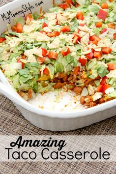 Delicious taco casserole the whole family will love. Ready in 30 minutes.