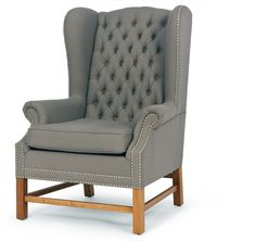 Manor Wing Back Chair, Oxford Grey from made.com