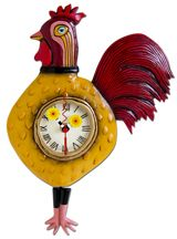 A rooster clock for your kitchen makes a great statement with swinging pendulum feet!
