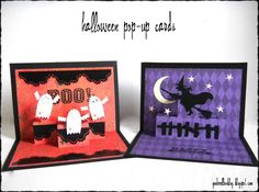 This Halloween I thought I would make cards for Jackson and Tanner, since most of the store bought cards are way over priced and borin...
