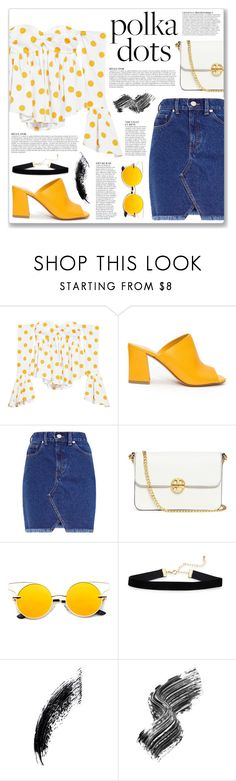 """Polka Dots"" by myduza-and-koteczka ❤ liked on Polyvore featuring Caroline Constas, Maryam Nassir Zadeh, Tory Burch, Anja and Illamasqua"