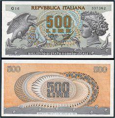 Collezione Personale di Banconote Italiane: 0.0.5. - 500 LIRE ARETUSA